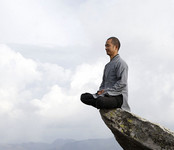 Guy sitting on crag